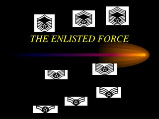 THE ENLISTED FORCE