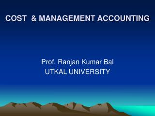 COST  & MANAGEMENT ACCOUNTING