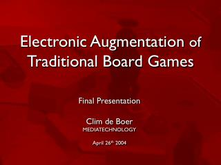 Electronic Augmentation of