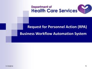 Request for Personnel Action (RPA) Business Workflow Automation System
