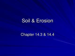 Soil & Erosion