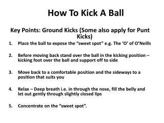 How To Kick A Ball