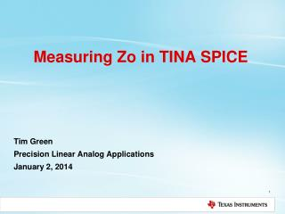 Measuring Zo in TINA SPICE