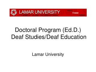 Doctoral Program (Ed.D.)   Deaf Studies/Deaf Education