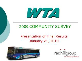 2009 COMMUNITY SURVEY Presentation of Final Results January 21, 2010