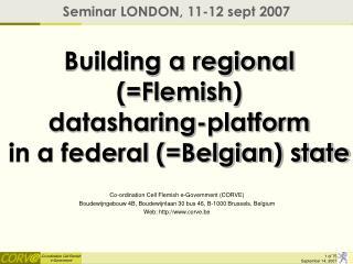 Building a regional Flemish  datasharing-platform  in a federal Belgian state
