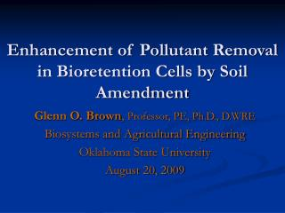 Enhancement of Pollutant Removal in Bioretention Cells by Soil Amendment