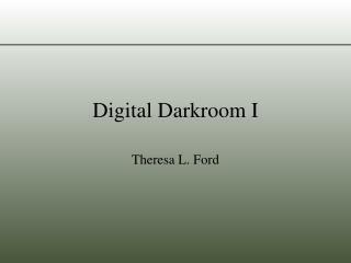 Digital Darkroom I