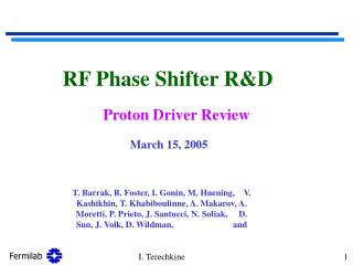 RF Phase Shifter R&D