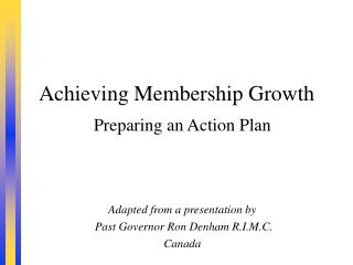 Achieving Membership Growth