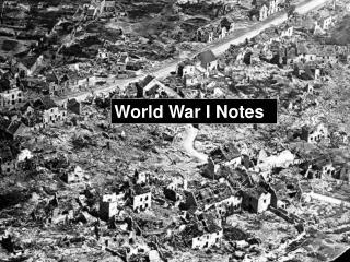 World War I Notes