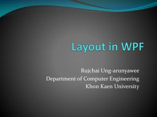 Layout in WPF