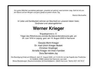 Werner Krieger