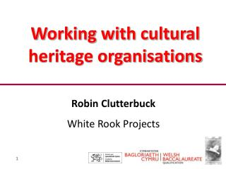 Working with cultural heritage organisations