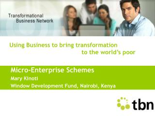 Micro-Enterprise Schemes Mary Kinoti Window Development Fund, Nairobi, Kenya