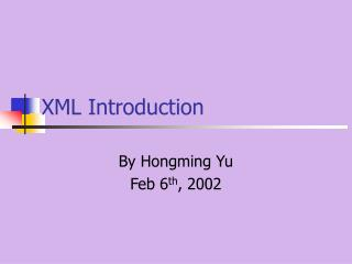 XML Introduction