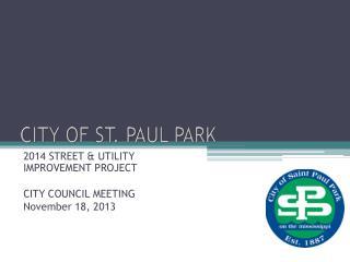 CITY OF ST. PAUL PARK