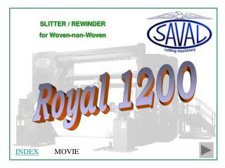 SLITTER / REWINDER  for Woven-non-Woven