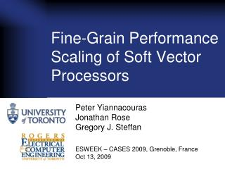 Fine-Grain Performance Scaling of Soft Vector Processors