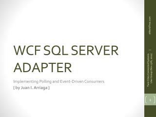 WCF SQL SERVER ADAPTER