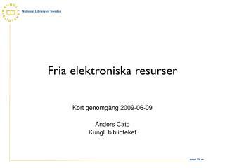 Fria elektroniska resurser