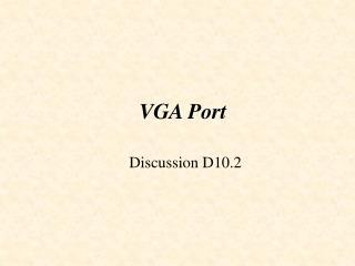 VGA Port