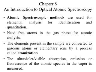 Chapter 8 An Introduction to Optical Atomic Spectroscopy
