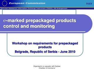 ℮-marked prepackaged products control and monitoring