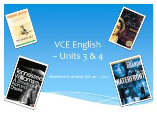 VCE English  – Units 3 & 4