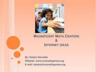 Magnificent Math Centers    Internet ideas