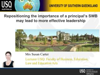 Repositioning the importance of a principal's SWB may lead to more effective leadership
