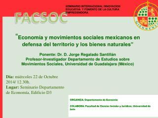 ORGANIZA : Departamento  de  Econom�a