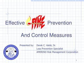 Effective   		      Prevention And Control Measures