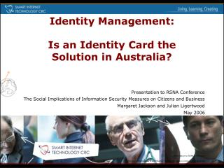 Identity Management: Is an Identity Card the Solution in Australia?