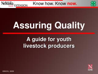 Assuring Quality
