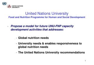United Nations University Food and Nutrition Programme for Human and Social Development