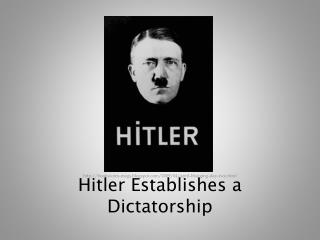 why was hitler able to become With the death of german president paul von hindenburg, chancellor adolf  hitler becomes absolute dictator of germany under the title of fuhrer, or.
