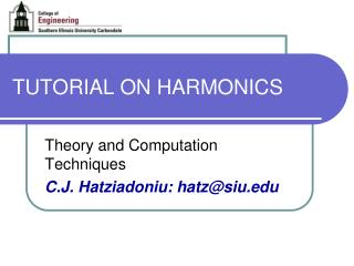 TUTORIAL ON HARMONICS