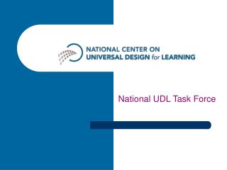 National UDL Task Force