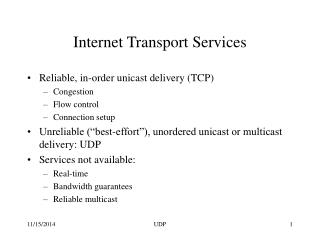 Internet Transport Services