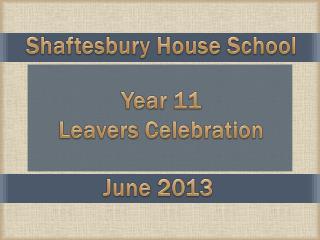 Year 11 Leavers Celebration