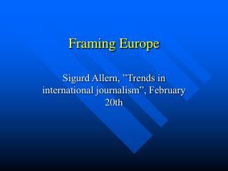 Framing Europe