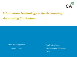 Information Technology in the Accounting Curriculum