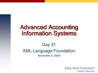Advanced Accounting Information Systems