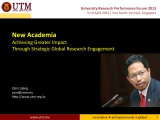 New Academia Achieving Greater Impact Through Strategic Global Research Engagement