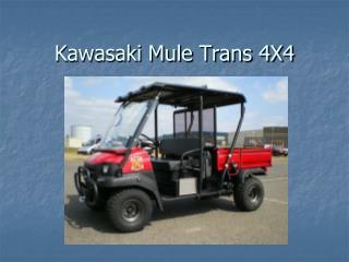 Kawasaki Mule Trans 4X4