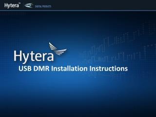 USB DMR Installation Instructions