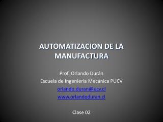 AUTOMATIZACION DE LA MANUFACTURA