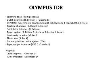 OLYMPUS TDR