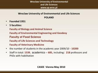 Wroclaw University of Environmental  and Life Sciences up.wroc.pl